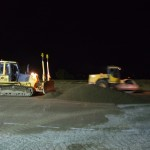 Laying CBM with Machine control at Night Derry Airport